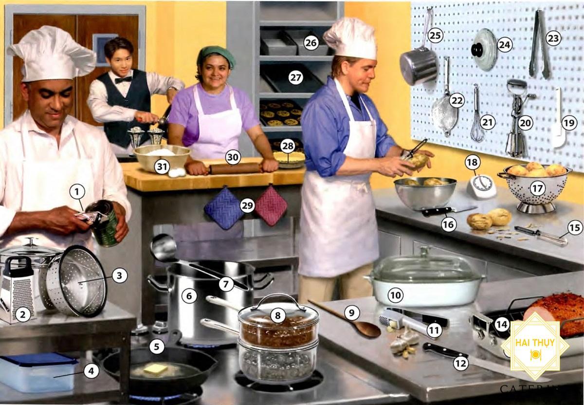 Những dụng cụ cần thiết trong nấu nướng, dọn ăn