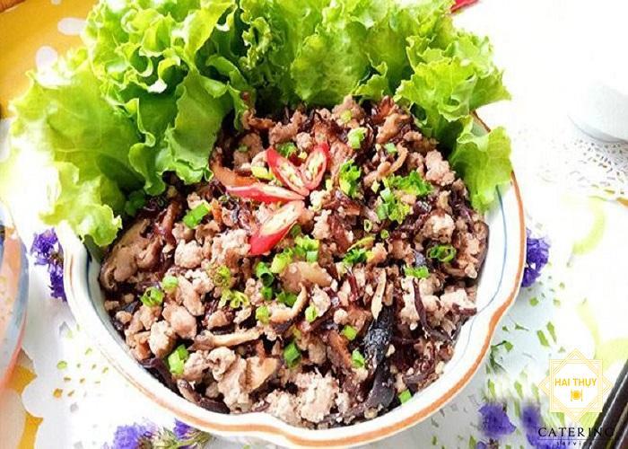 Công thức nấu món hành nấm xào thịt băm cho người tiểu đường
