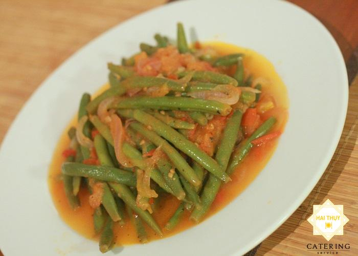 Công thức nấu cà chua xào đậu cô ve dinh dưỡng