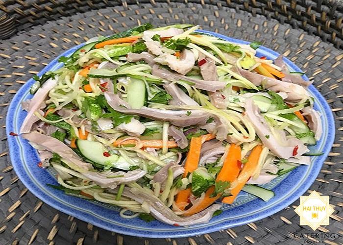 Công thức nấu món dạ dày lợn rau cải