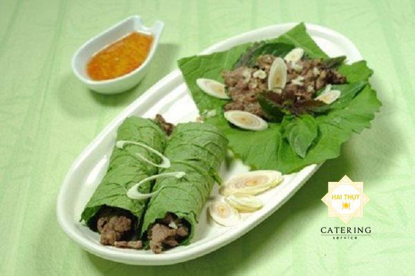bò cuộn cải xanh