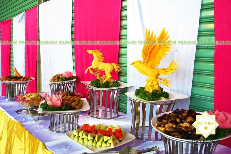 Đặt tiệc buffet khai trương sàn giao dịch BĐS Minland tại Long Thành Đồng Nai