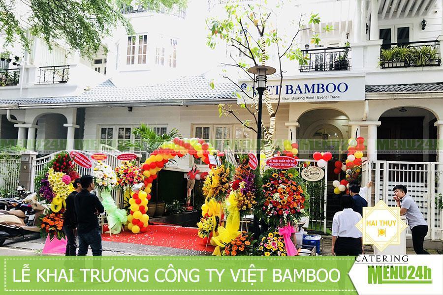 Đặt tiệc khai trương Quận 2 tại công ty Việt Bamboo - menu24h