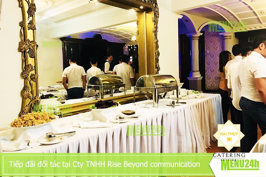 Đặt tiệc món âu tiếp đãi đối tác - CT TNHH Rise Beyond communication