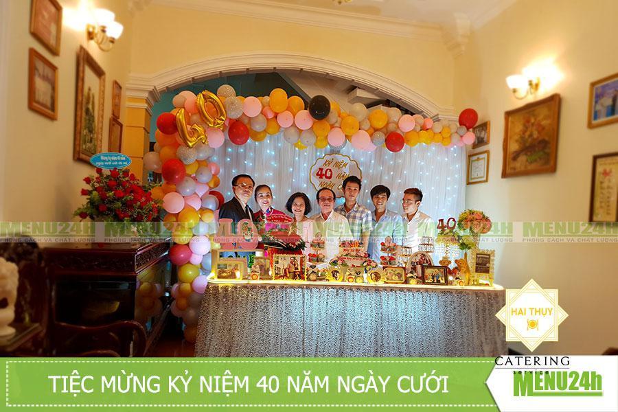 Lên kế hoạch tổ chức tiệc mừng tại nhà để kỷ niệm ngày cưới thật ý nghĩa
