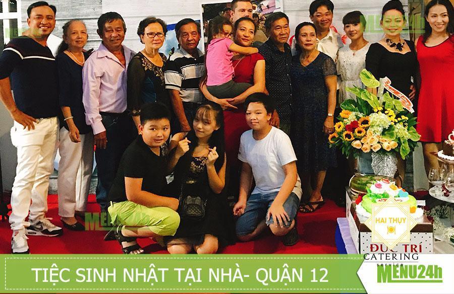 Sinh nhật tại nhà mừng Ông Xã 41 tuổi - Dịch vụ đặt tiệc Menu24h