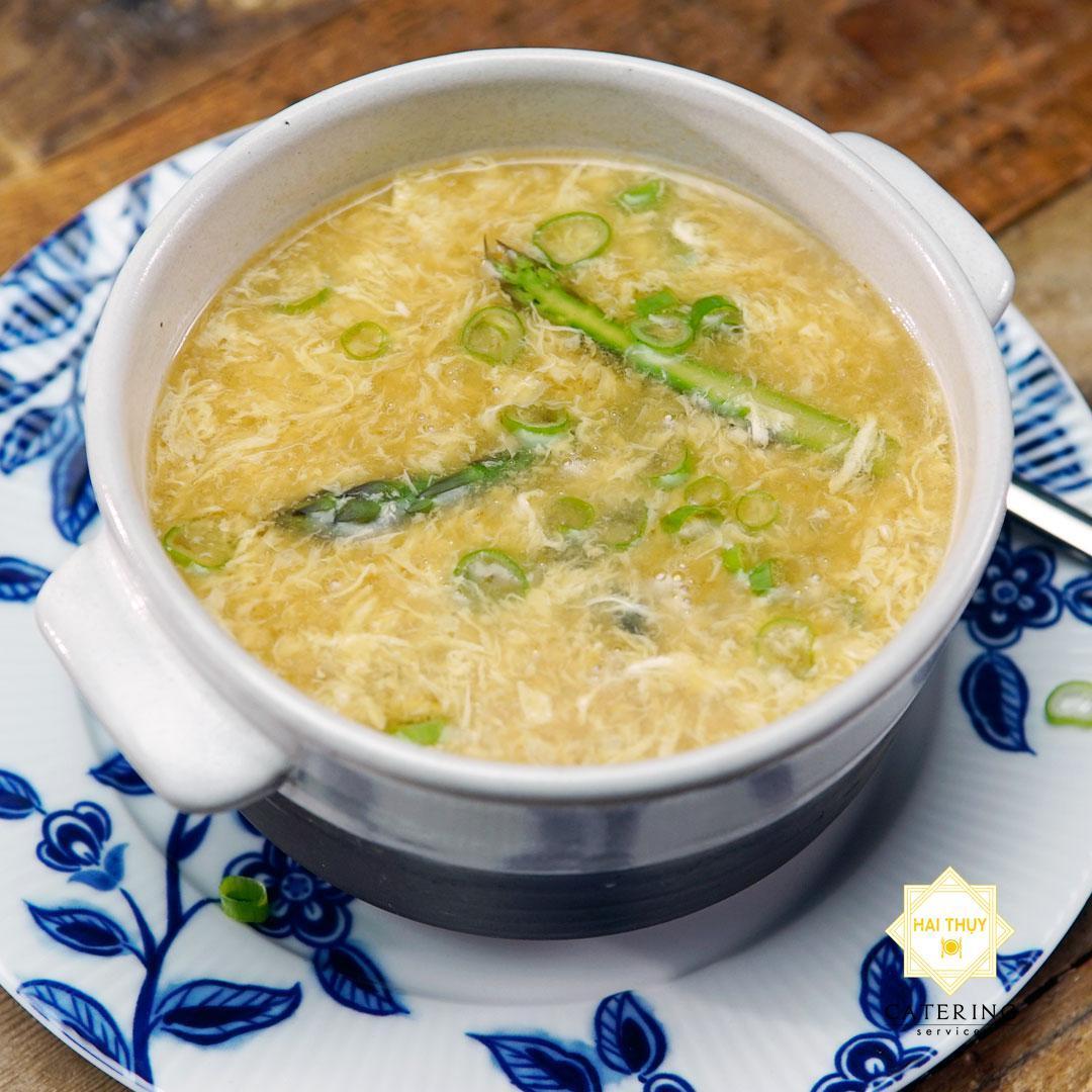 Soup gà măng tây - Dịch vụ đặt tiệc tại nhà Menu24h chuyên nghiệp