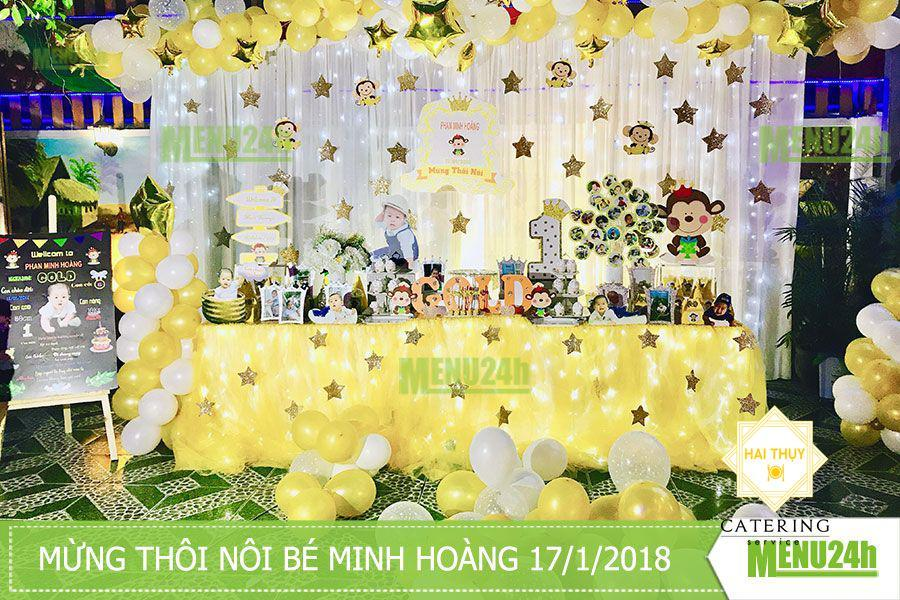 Thôi nôi bé Minh Hoàng - Dịch vụ tiệc trọn gói Menu24h
