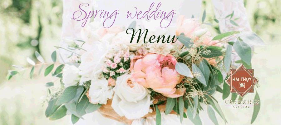 Thực đơn tiệc cưới vào mùa xuân