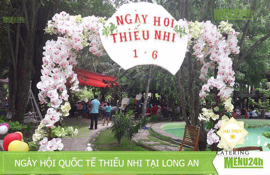 Tiệc buffet lưu động mừng ngày 1/6 tại KDL Làng cổ Phước Lộc Thọ