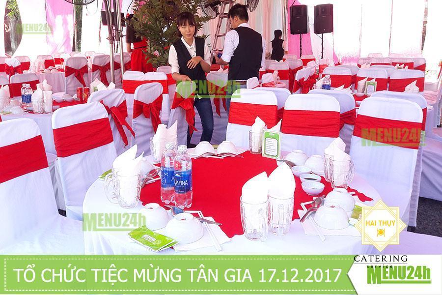 Tiệc mừng tân gia nhà anh Vũ - Dịch vụ tiệc trọn gói Menu24h