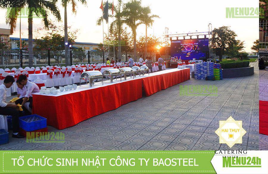 Tiệc sự kiện trọn gói sinh nhật và tất niên cuối năm tại công ty Baosteel