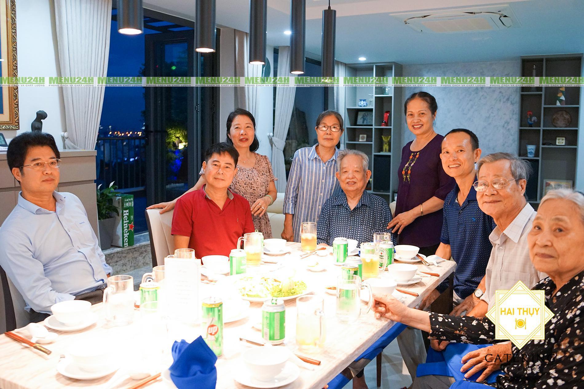 Tiệc tân gia nhà anh Giang quận 7 - Dịch vụ tiệc trọn gói Menu24h