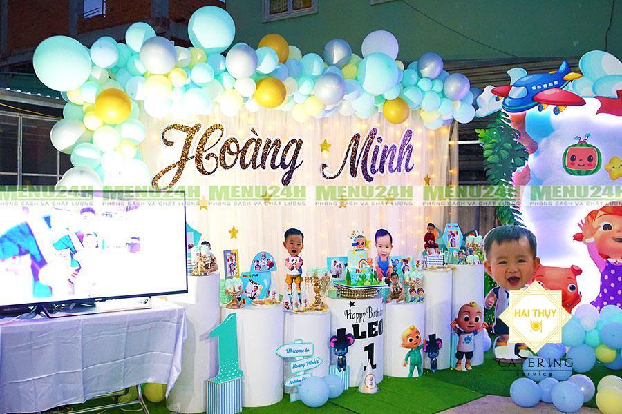 Tiệc thôi nôi quận Gò Vấp – Độc đáo với buổi tiệc thôi nôi đáng yêu của bé Hoàng Minh