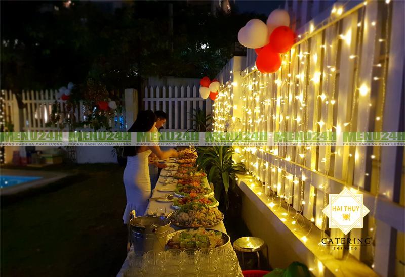 Tổ chức tiệc buffet báo hỷ - Phong cách hiện đại và trẻ trung