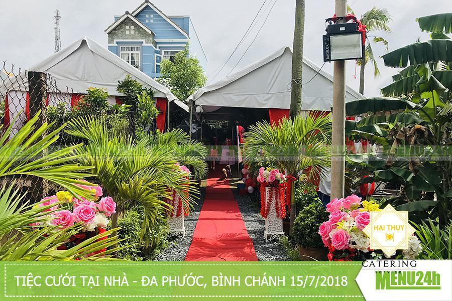 Tổ chức tiệc cưới ngoại thành tại Đa Phước, Bình Chánh