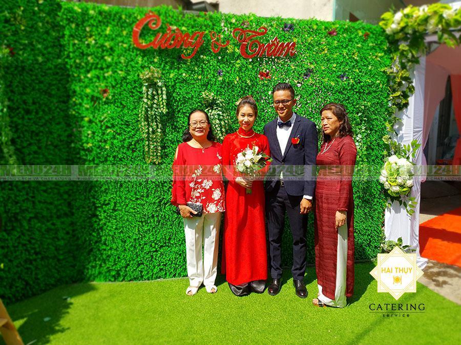 Tổ chức tiệc cưới tại nhà (chú rể) Tuấn Cường -(cô dâu) Bích Trâm
