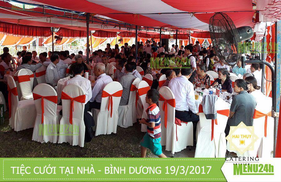 Tổ chức tiệc cưới trọn gói tại nhà - Bình Dương 19/3/2017
