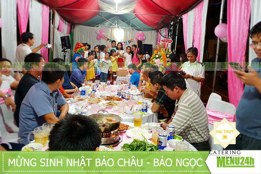Tổ chức tiệc mừng sinh nhật hai chị em Bảo Châu - Bảo Ngọc