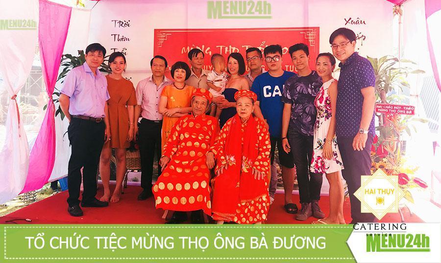 Tổ chức tiệc mừng thọ ông bà Đương