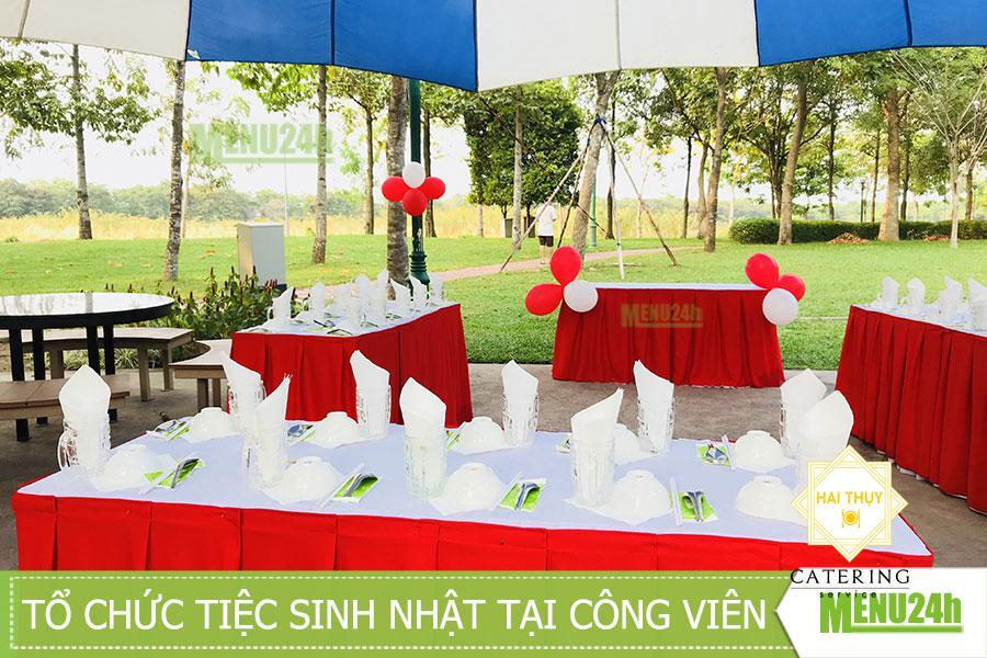 Tổ chức tiệc sinh nhật outside tại khuôn viên công viên Tân Phú