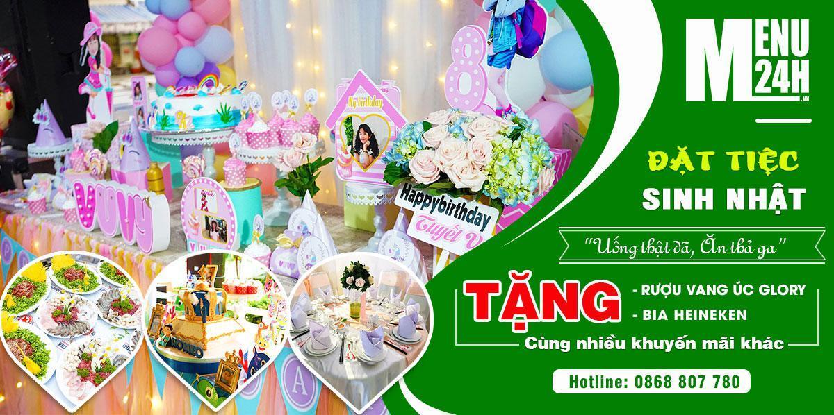 Nhận đặt tiệc sinh nhật - Tận hưởng dịch vụ tiệc 3 sao ngay tại nhà!