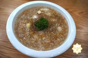 Món khai vị soup cua măng tây thơmngon và dinh dưỡng